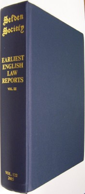 Image for The Earliest English Law Reports Volume III Eyre Reports to 1285