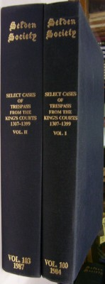 Image for Select Cases of Trespass from the King's Courts 1307-1399 Volume I and Volume  II