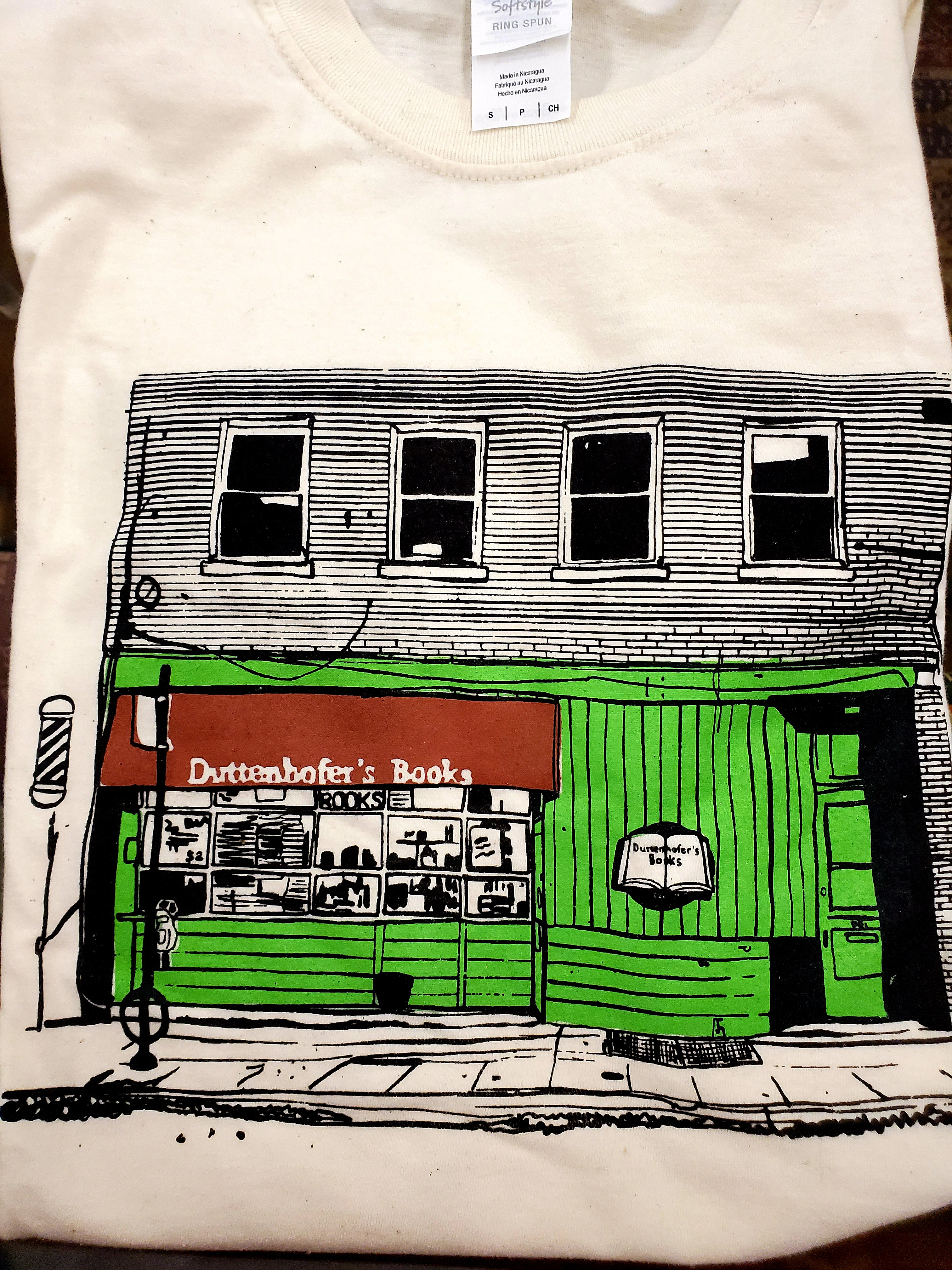 Image for Tshirt with color drawing of the storefront size XL